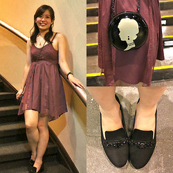 Michelle Lara Tan - Lulu Guinness Bag, Charles And Keith Shoes, American Eagle Dress - Night Out