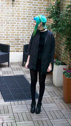 ZOE LDN - Motel Jacket, Motel Fluffy Dress, Boohoo Boots - Back in Black
