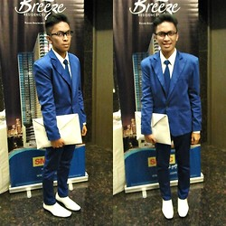 Christopher Regidor - Rhett Eala Blue Tux, Diy Envelope Clutch - Azul