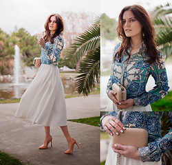 Viktoriya Sener - Ecugo Blouse, Asos Skirt, Zara Pumps, Koton Clutch, Asos Rings - GONE WITH THE WIND