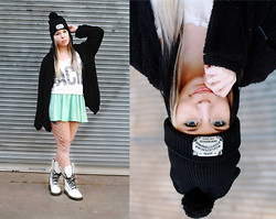 Ariel Martin-Reed - Hot Topic Ouija Board, Hot Topic Acid Tank, Doc Marten White Boots, Forever 21 Mint Skirt - Wasted Youth;
