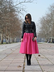 Jovana Radojicic - Sheinside Jacket, Choies Skirt, Italia Independent Sunglasses, Mango Shoes - PARTY SKIRT