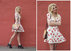 Vicky Kurkach - Nishe Dress, Monki Bag, Zigi Soho Shoes, Asos Tatoo Tights - Sweet bows )