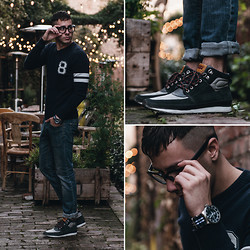 Reinaldo Irizarry - Forever 21 Sweater, H&M Jeans, Levi's® Sneakers, Nautica Watch, Tom Ford Glasses - LATE NIGHT BLUES