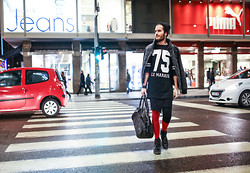 Dan Cristian G. - Zara Jumper, Zara Quilted Jacket, Rick Owens Skirt, H&M Leggings, Zara Bag, Dior Homme Shoes - Le Marais