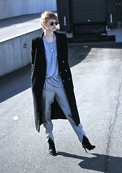 Jade Eve - Zara Shoes, H&M Pants, H&M Coat - Silver oversize