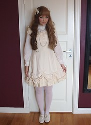 Denise Elliot S - Victorian Maiden Cream Jsk, Innocent World Cream Blouse - 21.02.14