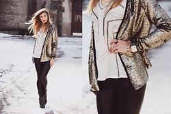 Becca L - La Made Sequin Cardigan - They call me trouble, baby