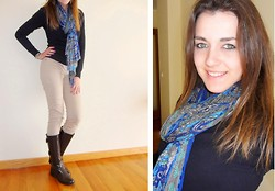 Isabel Silva - Primark Pants, Zara Pullover, C&A Scarf - My Blue Scarf
