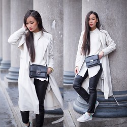 Levi Nguyen - Adidas Stan Smith, Leather Pants, Trench Coat, Bag - FLOAT