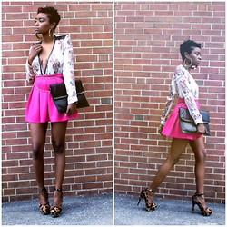 Moochie H - Forever 21 Pink Skirt, Prada Leopard Heels - Pink is for Girls