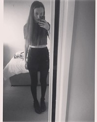 Jessica Belshaw - Topshop Boots, Topshop Striped Crop Top, Asos Asymmetrical Skirt - Atlas sound