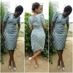 Violet K - Kibua Designs Short Kitenge Dress - Draft