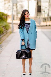 Maria Jesus Garnica - Nine West Bag, Kimber Bracelet, Frontrowshop Coat, Sheinside Dress - Lady Look