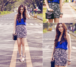 Aileen Belmonte - The Berries Skirt, The Berries Loose Cami - Black and Blue
