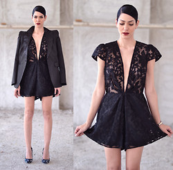 Konstantina Tzagaraki - Playsuit, Blazer - Never love anyone who treats you like you're ordinary..