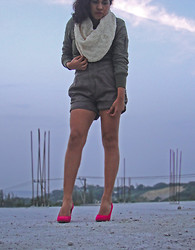 Ke Za va - Diy Kezava Bufanda, Loft Chaqueta, That's It Short - Tacones Rosa Mexicano