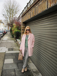 Alina A - Asos Coat, Zara Trousers - Pastels for Spring