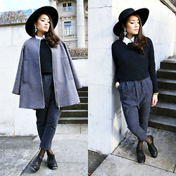 Thao Nhi Le - H&M Hat, Prps Baggy Pants, Piu&Piu Coat - Day dreaming on a grey day