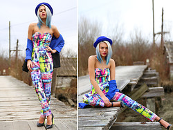 "Alanna Durkovich - Suite10/16 'Splash Of Color"" Jumpsuit - Splash of Colour"