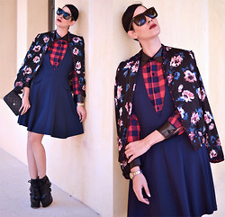 Konstantina Tzagaraki - Dress, Bomber Jacket, Booties, Chanel Purse, Sunglasses - Be yourself; everyone else is already taken..