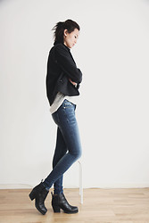 Miu N - Rag & Bone Jacket, Crocker Jeans, Crocker Top, Acne Studios Boots - Casual