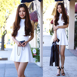 Yuzi Katrina - Charlotte Russe Simple All White Dress, Understar Jacket - Simple White