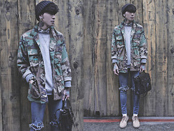 IVAN Chang - Vintage U.S. Military Camouflage Shirt - 060314 TODAY STYLE
