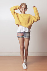Tricia Gosingtian - Just G Top, Just G Shorts, Romwe Sweater, Topshop Sneakers - 030614