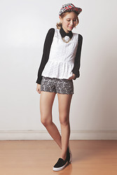 Tricia Gosingtian - Just G Top, Just G Shorts, Emoda Shoes, Emoda Necklace, Romwe Cap - 030614-3