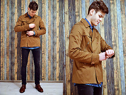 Ştefan Vȋlnoiu - Zara Jacket, Selected Shirt, Olympus Watch, Ralph Lauren Shoes, Zara Jeans - Random