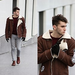 Clément Lasserre - Boy London Coat, Choies Jumper, Clarks Originals Desert Boots, Mujjp Gloves - My love is underground
