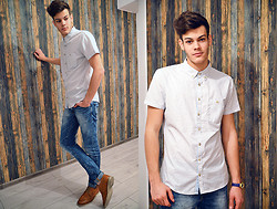 Ştefan Vȋlnoiu - Selected Shirt, Zara Jeans, Boneville Shoes, United Colors Of Benetton Watch - Westamerica