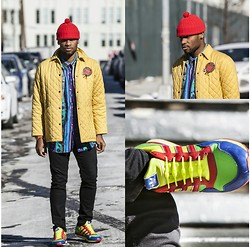 Askia Abdull - Fossil Watch, Adidas Sneakers, Hickies Elastic Laces - Color Me Street