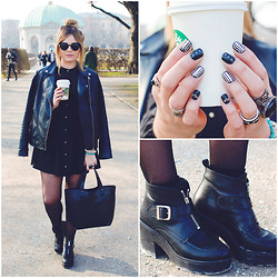 Lily Melrose - Asos Dress, Forever 21 Jacket, Office Brash Boots - Tschüss