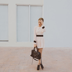 Tricia Gosingtian - Theory Dress, Sugarfree Shoes Boots, Balenciaga Bag - 030814