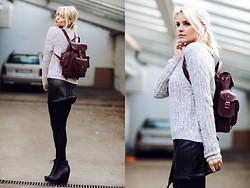 La Leonella - Rich & Royal Pullover, G Star Raw Skirt, Steve Maddan Bag - Wool and Wedges ...