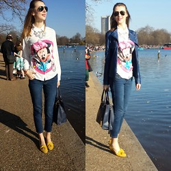 Roxana B. - Ray Ban Sunglasess, Primark Necklace, Massimo Dutti Jeans, Stone Creek Shoes - Happy minnie