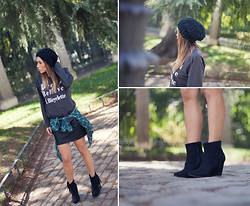 Barbara Crespo - A Bicyclette Sweater, Sheinside Shirt, C&A Ankle Boots, C&A Mini Skirt, C&A Beanie - Dream ✩ believe...
