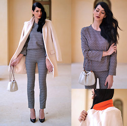 Konstantina Tzagaraki - Coat, Twin Set, Hermës Purse, Jimmy Choo Heels - Her white arms became my entire horizon..