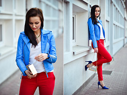 Patrycja T - Choies Jacket, Zara Shoes, Reserved Pants, Shoelook Bag - Power of colors