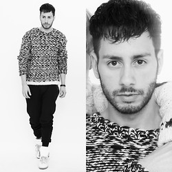 Reinaldo Irizarry - Isabel Marant Sweater, Zara Jogger Pants, Maison Martin Margiela Sneakers - BUNDLED/UP
