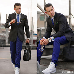 Jesse Maricic - Lacoste Bag, Reebok Hitops, Diesel Only The Brave, Moschino Pocket Square - Casual Sophistication