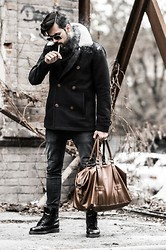 Vlado - Pull & Bear Coat, H&M Denim, H&M Bag, Dr. Martens Boots - Casual