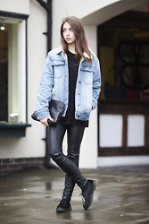 COCO CHIC -  - Denim and leather