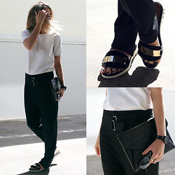Oraclefox . - J Brand Top, Asos Pants, Jeffrey Campbell Slides, Givenchy Clutch - On The Side