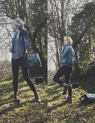 Lis K - Obey Top, Kothai Bag, H&M Leggings, Dr. Martens Docs Victorian Flower - Spring is coming
