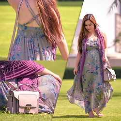 Faith Rodriguez -  - Floral And Lavender (Baby Mama Lookbook)