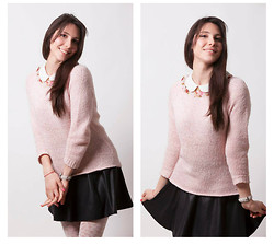 Vicky Ath - Zara Top, Stradivarius Skirt - School girl