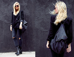Isabella Thordsen - Mykita, Cheap Monday, Asos - All I see is black